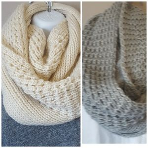 2 West Loop chunky knit infinity scarf